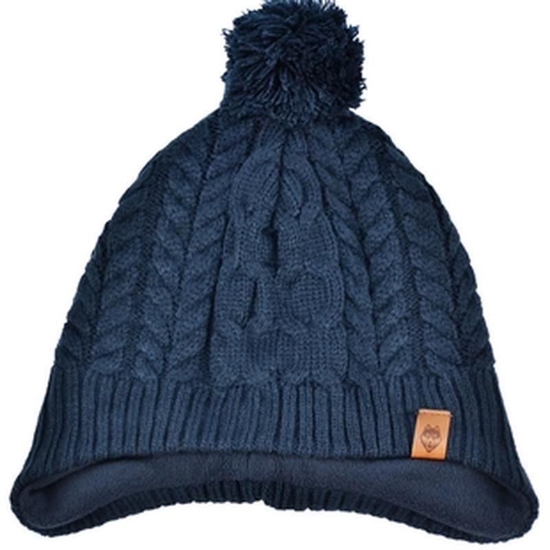 Теплая шапка для мальчика h&m 8-14лет темно-синего цвета