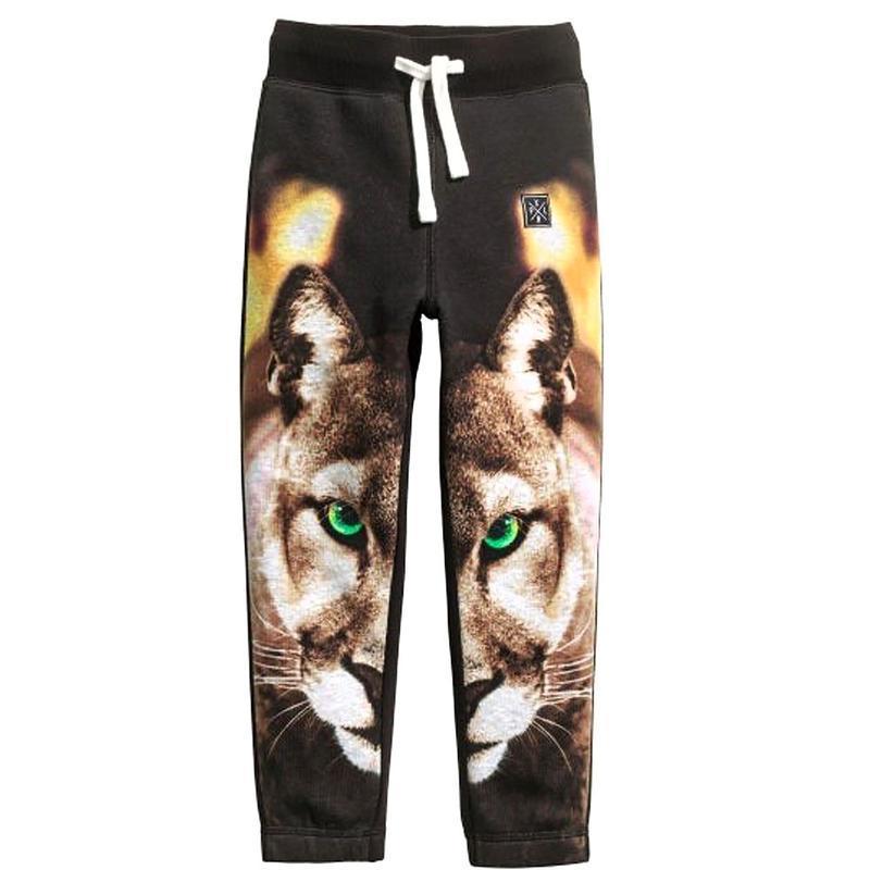 Теплые спортивные штаны на мальчика h&m 98-104см, 3-4г. черные