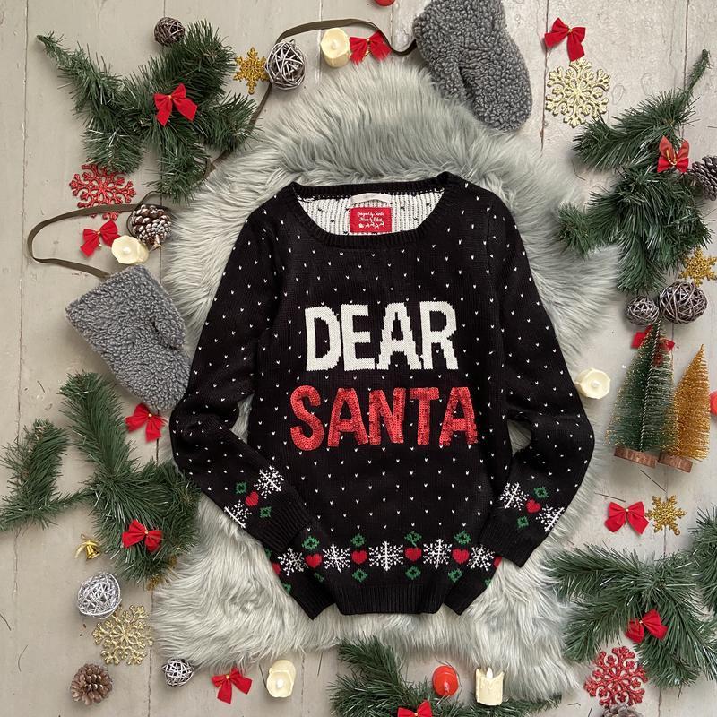 Новогодний рождественский свитер джемпер №45