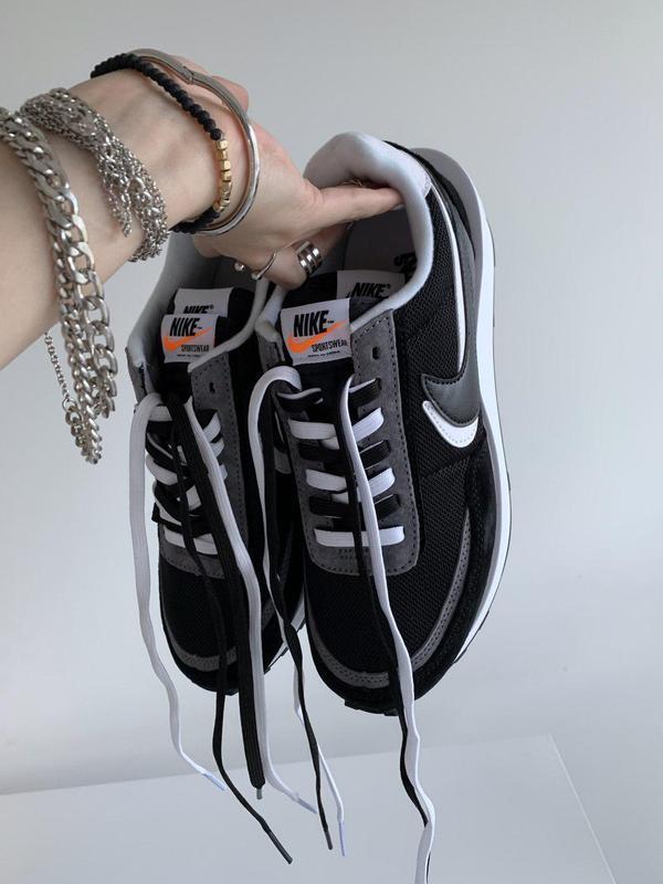 Шикарные женские кроссовки nike sacai x ldwaffle 'black' 😍 (ве...