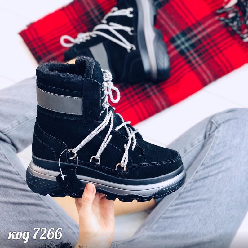 Стильные зимние ботинки из натуральной замши - Фото 3