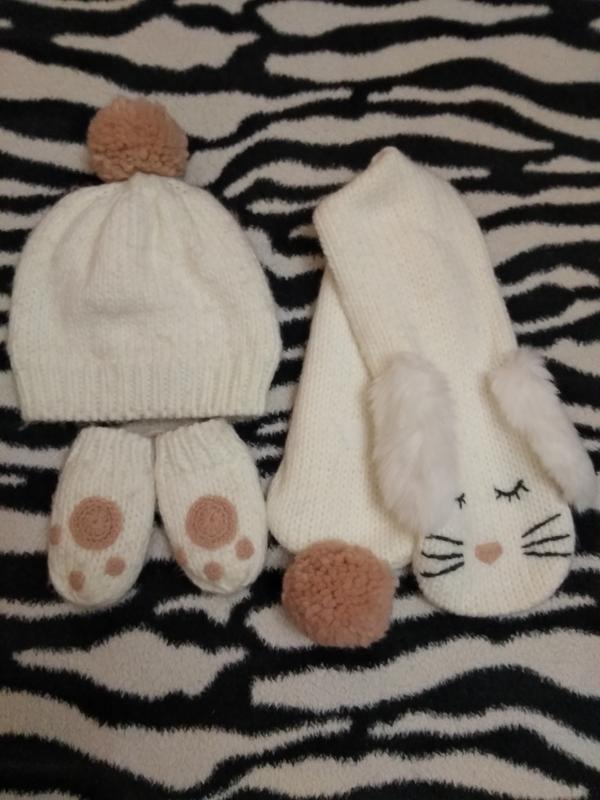 Фирменный набор шапка шарф варежки m&s