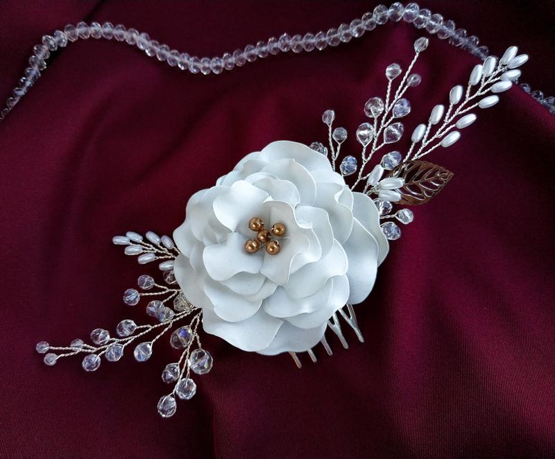 Гребень для волос, украшение в прическу, свадебный гребень
