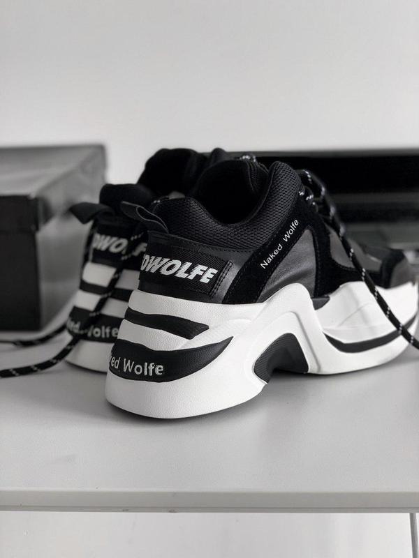Шикарные женские кроссовки naked wolfe track black/white 😍 (ве...