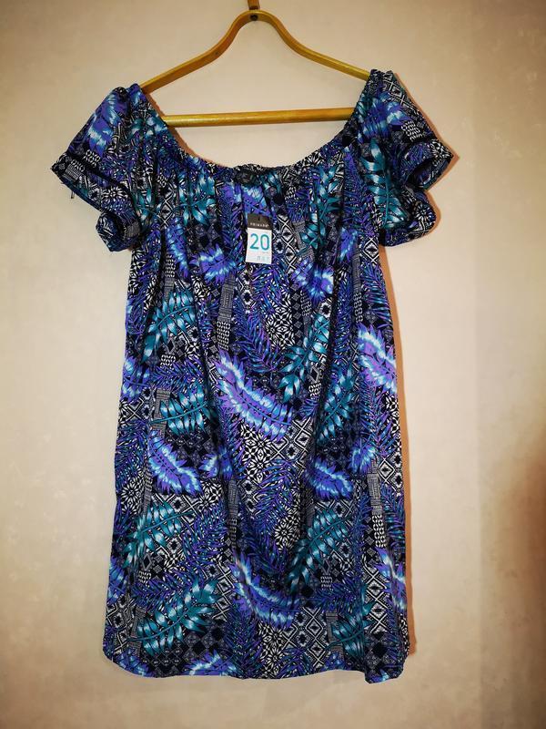 Красивое платье открытые плечи батал primark uk 20 eur 48 наш 54