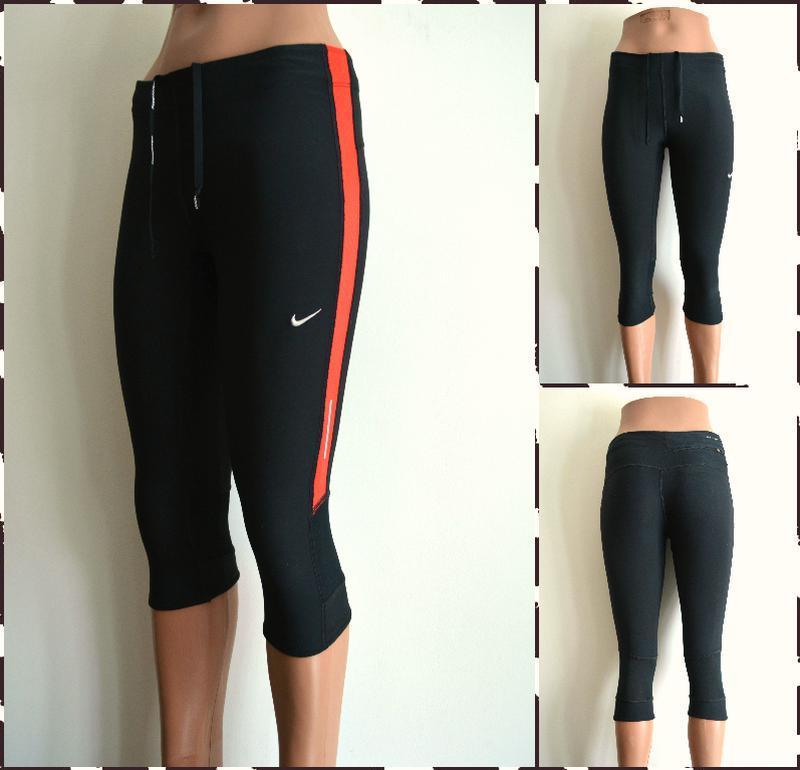 Nike dry fit женские спортивные бриджи  размер s