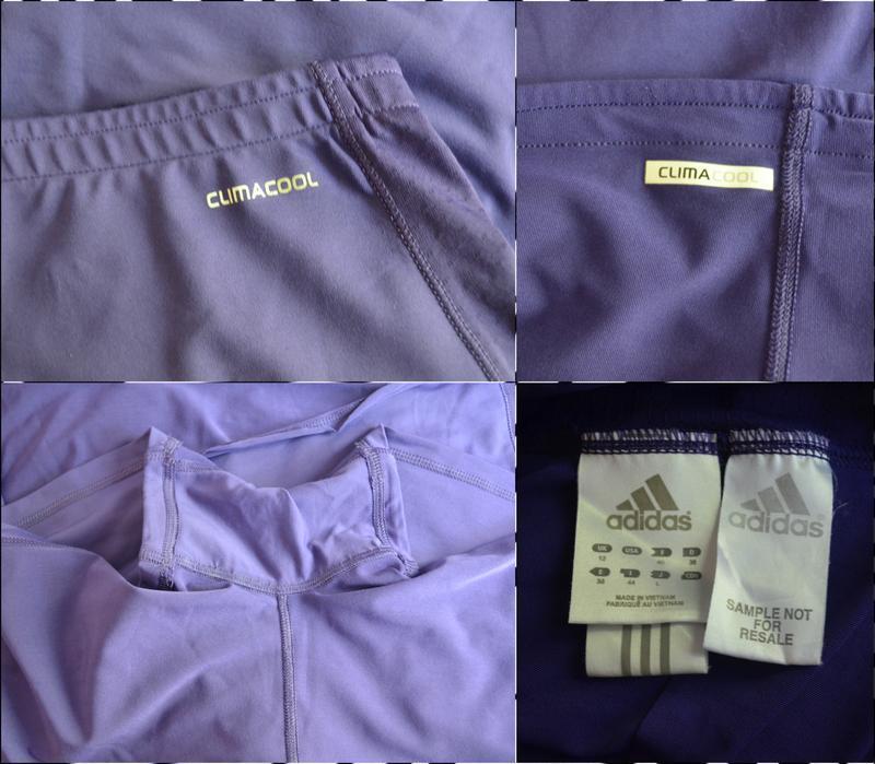 Adidas ® climacool спортивная двухслойная юбка-шорты размер s-m