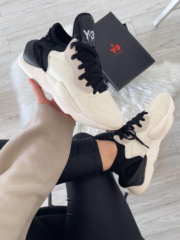 Женские кроссовки adidas y-3 kaiwa black white sole 😍 (весна/ ...