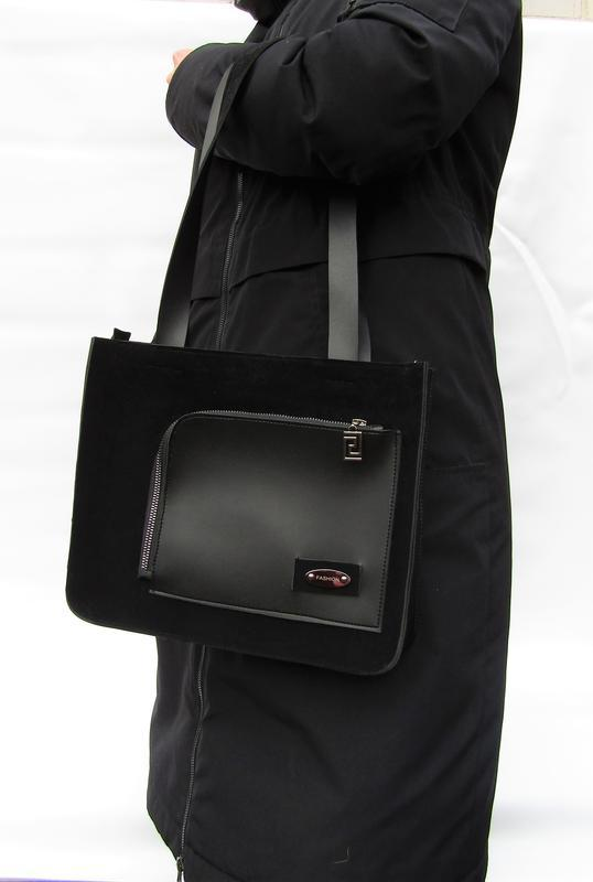 Красивая черная сумка handmade