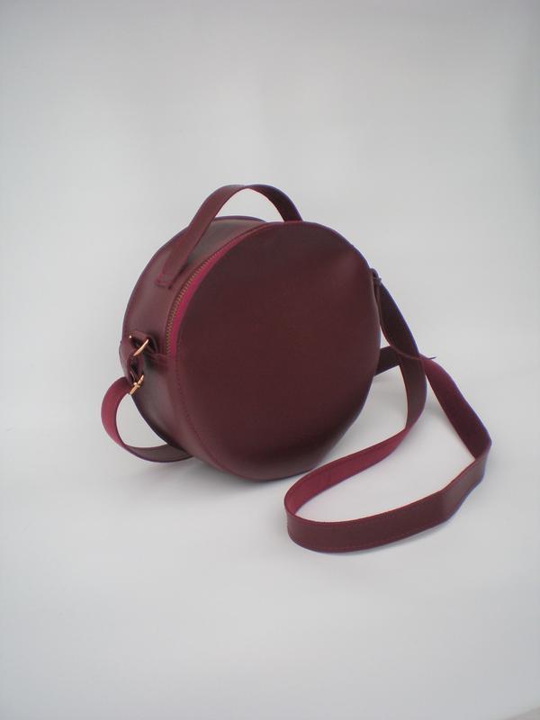Круглая сумка handmade