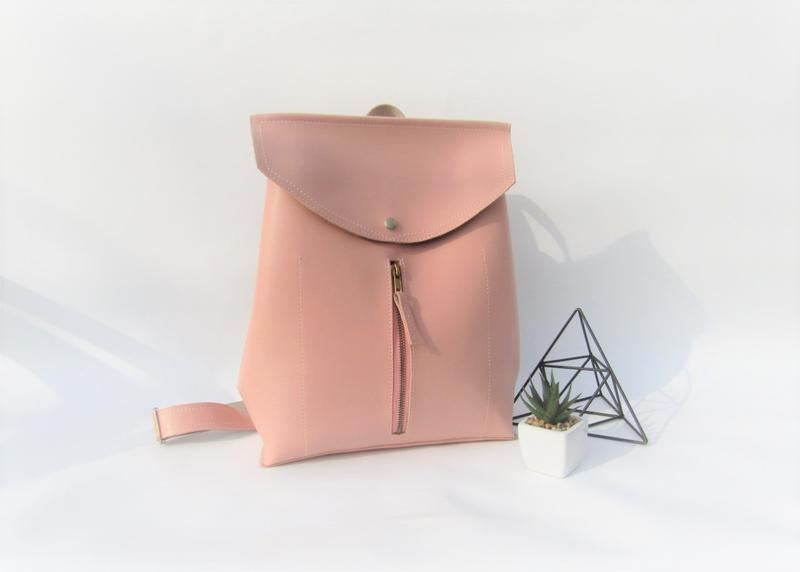 Розовый рюкзак handmade