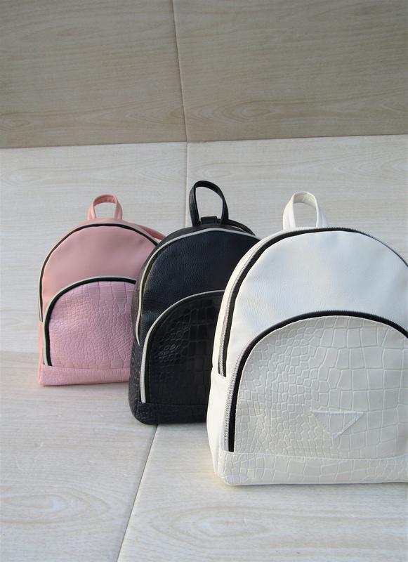 Белый рюкзак handmade