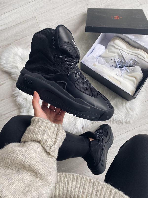 Женские кроссовки adidas y-3 hokori black 😍 (весна/ лето/ осень)