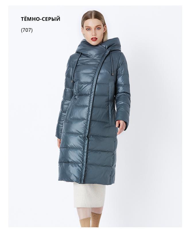 Xxxl (52) качественный теплый зимний длинный пуховик / пальто ...