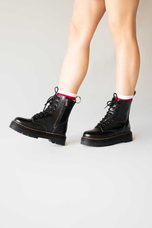 Dr. martens jadon black женские демисезонные ботинки черные ма...