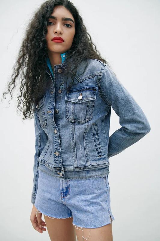 Новая женская джинсовая куртка zara xs s zara жіноча куртка 42...