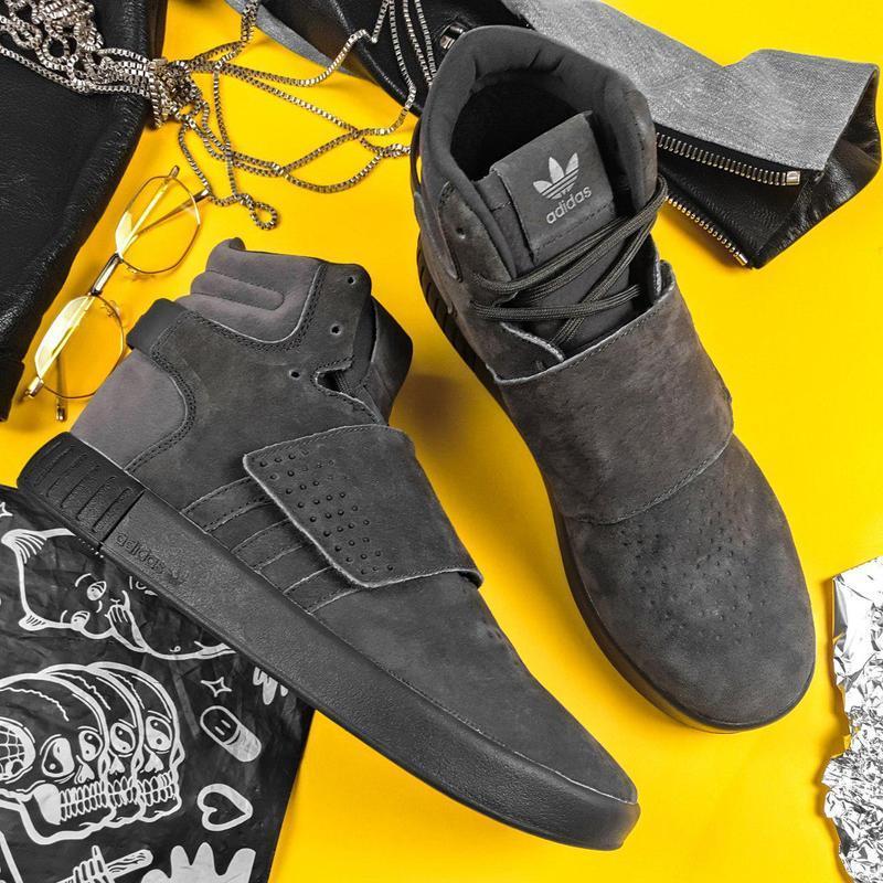 Шикарные мужские зимние кроссовки adidas tubular winter grey ❄...