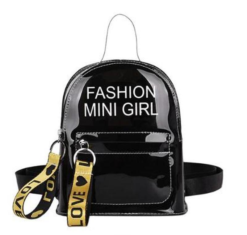 Стильный небольшой рюкзак с принтом из пвх