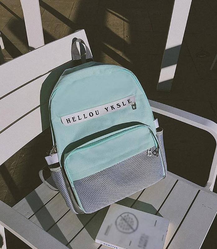 Мятный стильный молодежный рюкзак
