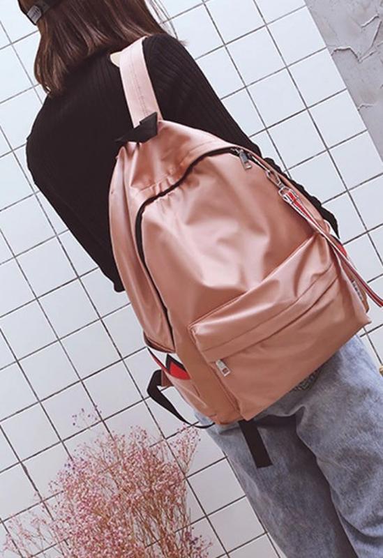 🔥🔥🔥рюкзак женский блестящий розовый непромокаемый
