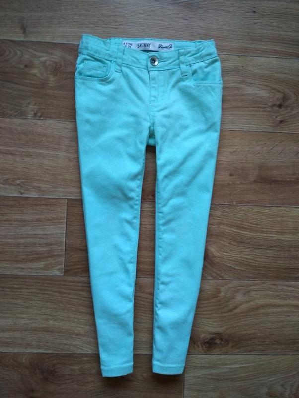 Красивейшие бирюзовые джинсы