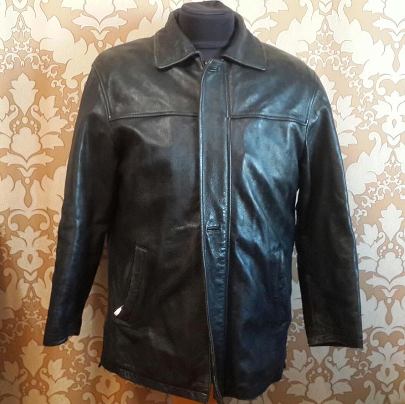 Классная кожаная куртка с подстежкой из натурального меха. Sam Fu