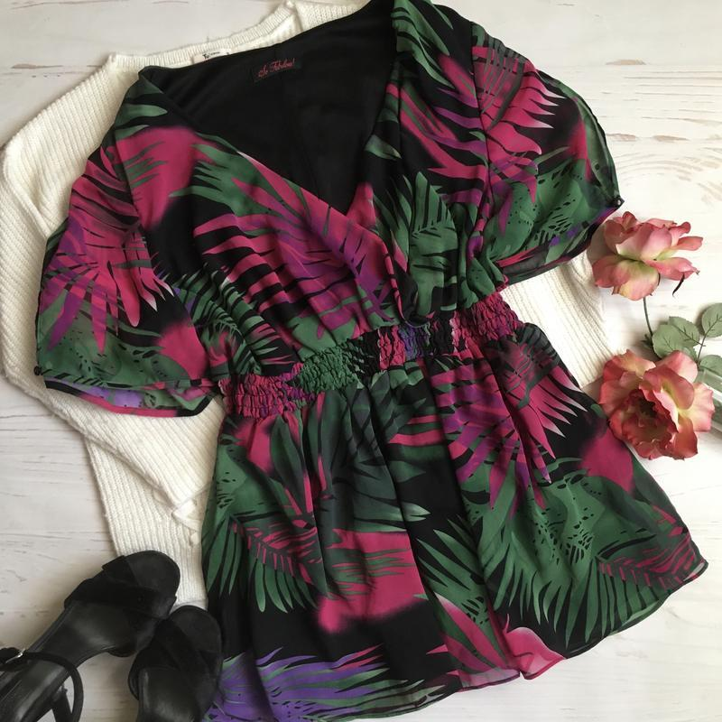 Красивая блуза с принтом/5xl/6xl/7xl
