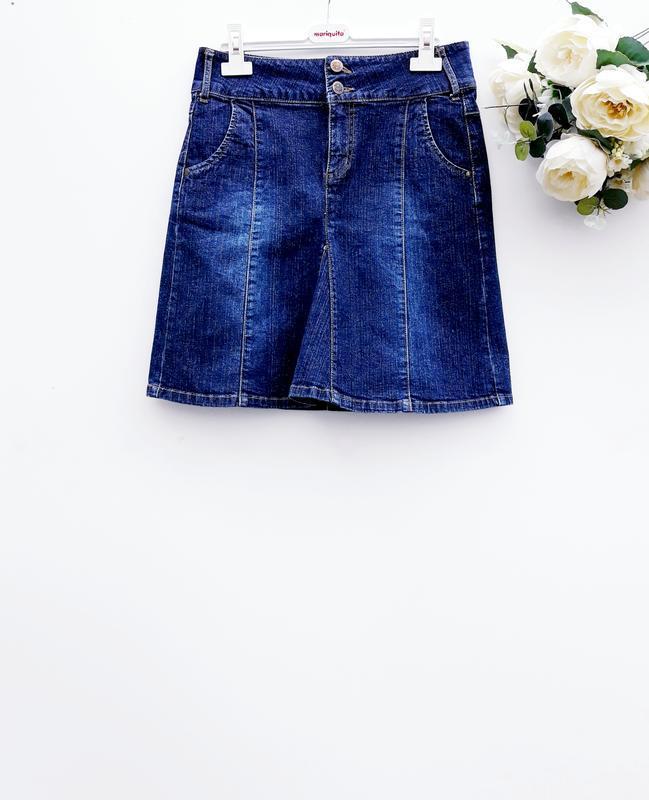 Красивая качественная юбка джинсовая юбка миди