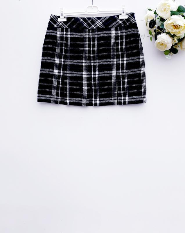 Красивая теплая юбка теплая юбка в клетку