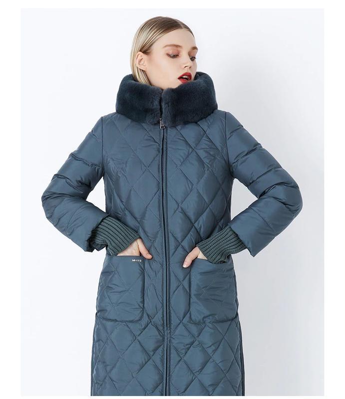 52 (3xl) роскошный качественный длинный теплый зимний пуховик ...