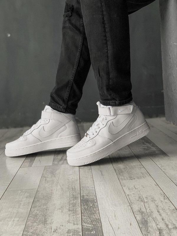 Шикарные кроссовки nike air force 1 high white ❄️ (унисекс/ ос...