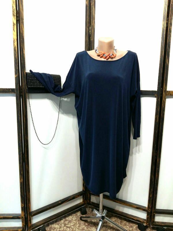 Темно-синее свободное платье бренд mtwtfss weekday