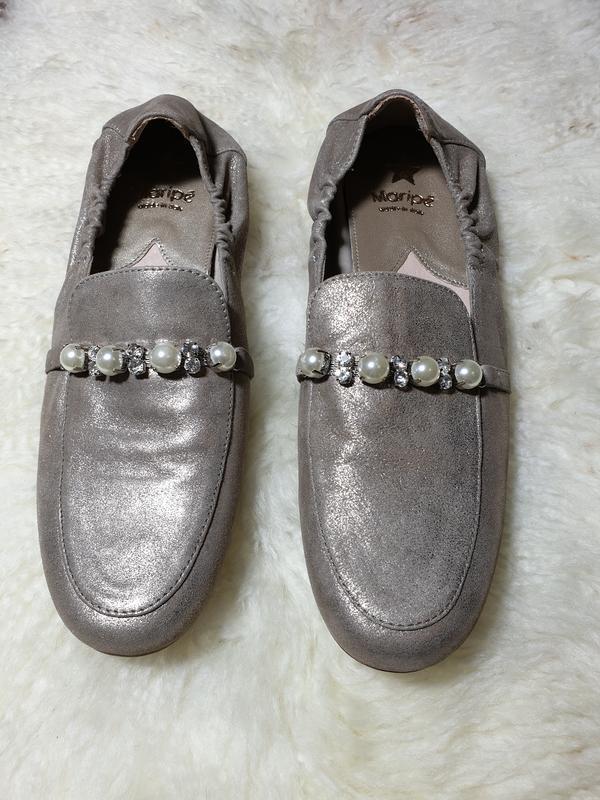 Кожаные итальянские туфли лоферы maripe