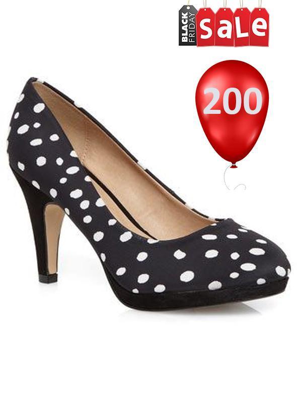 Sale модные туфельки evans  в горох 38-39