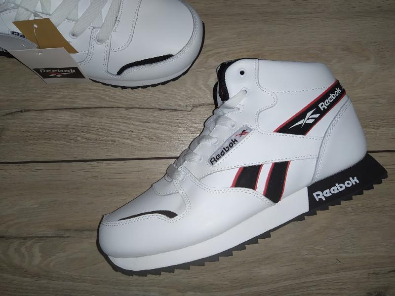Зимние ботинки reebok кожа зимові мужские кроссовки