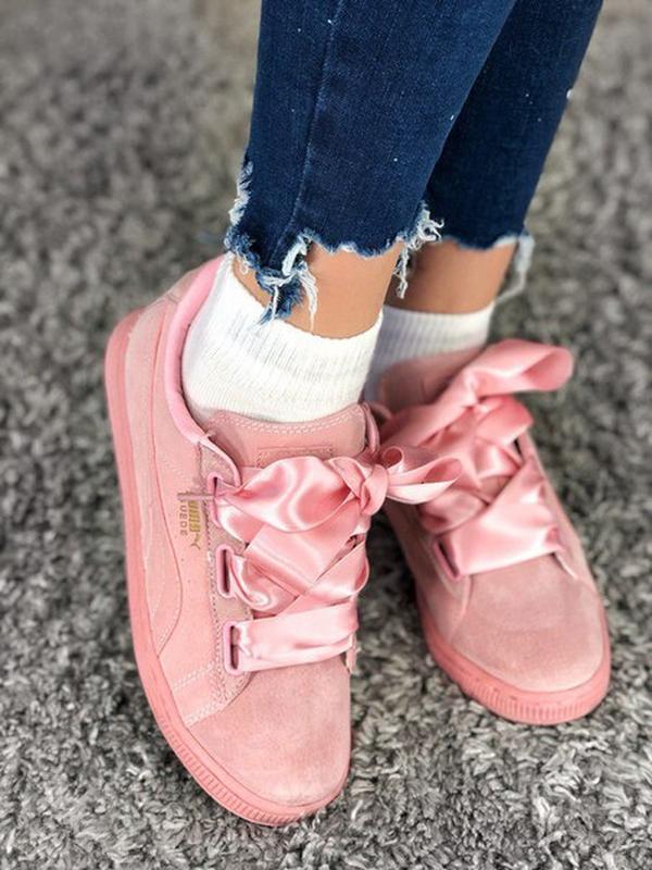 Кроссовки женские puma suede heart prism pink  распродажа! пос...