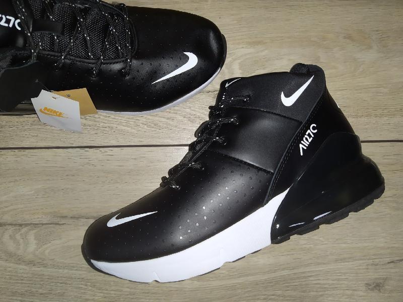 Зимние ботинки nike air 270 кожа зимові мужские кроссовки