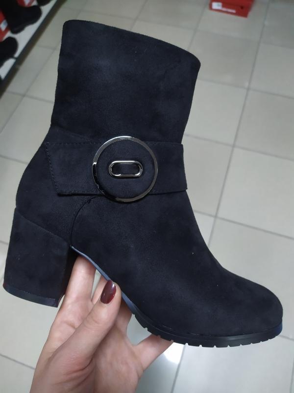 Зимние сапожки на каблуке