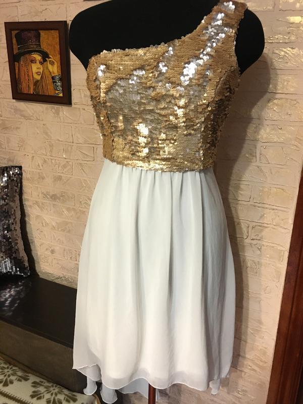 Платье двусторонние пайетки, на подкладке
