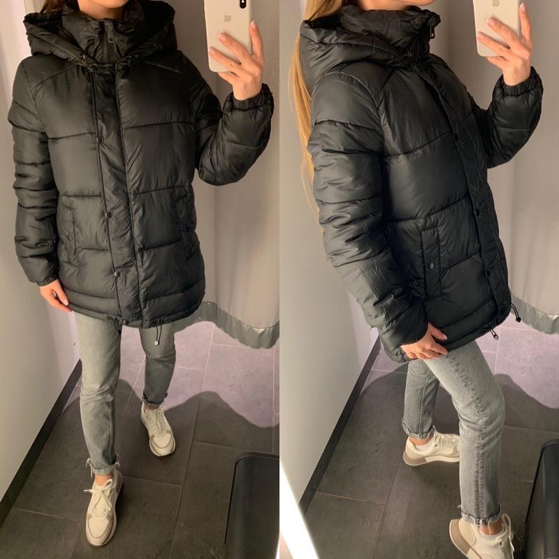 Стёганая куртка пуффер демисезонная курточка amisu есть размеры