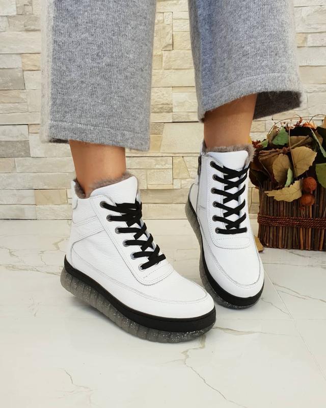Ботинки зимние phany, натуральная кожа, зима 2020