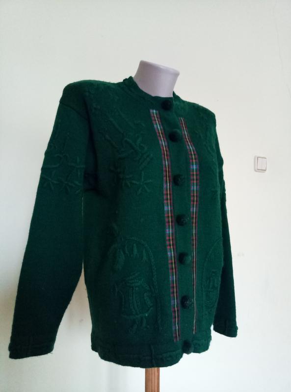Оригинальный теплый английский свитер