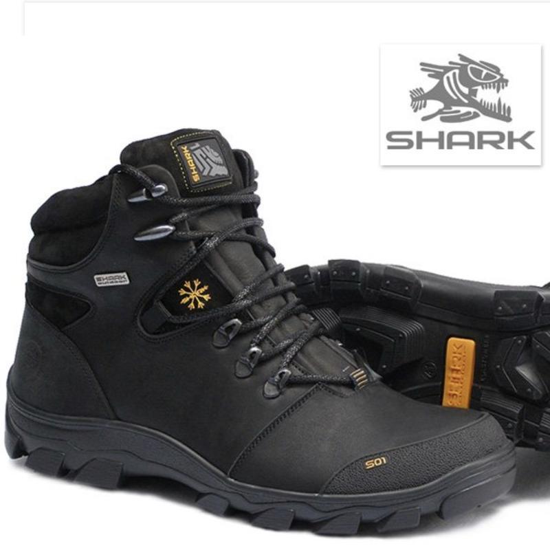 Качественные мужские кожаные зимние ботинки
