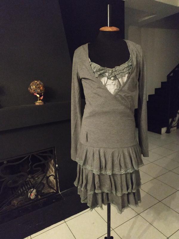 Ретро платье италия винтаж винтажное кружево оборки осень деми