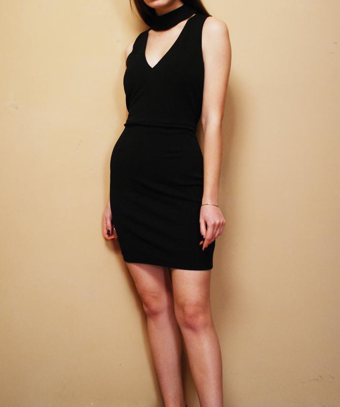 Только до 30/11! трендовое маленькое черное платье с чокером