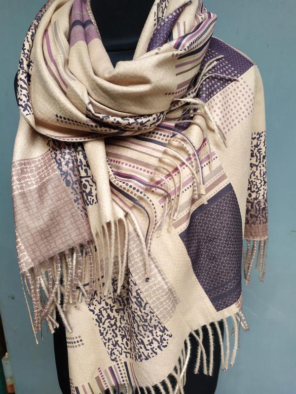 Теплый палантин шарф беж в наличии