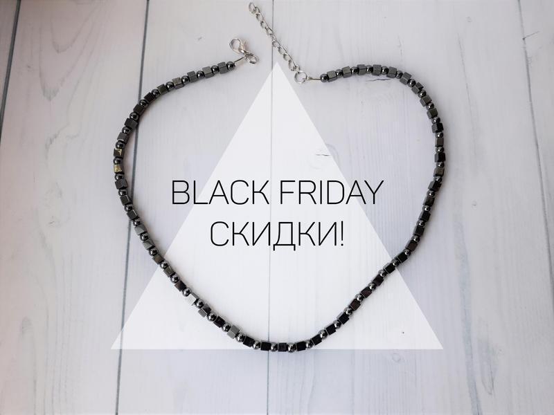Ожерелье из гематита hand made