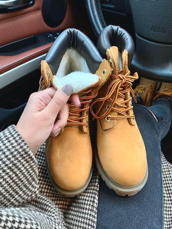 Женские ❄зимние ботинки timberland с мехом - Фото 3
