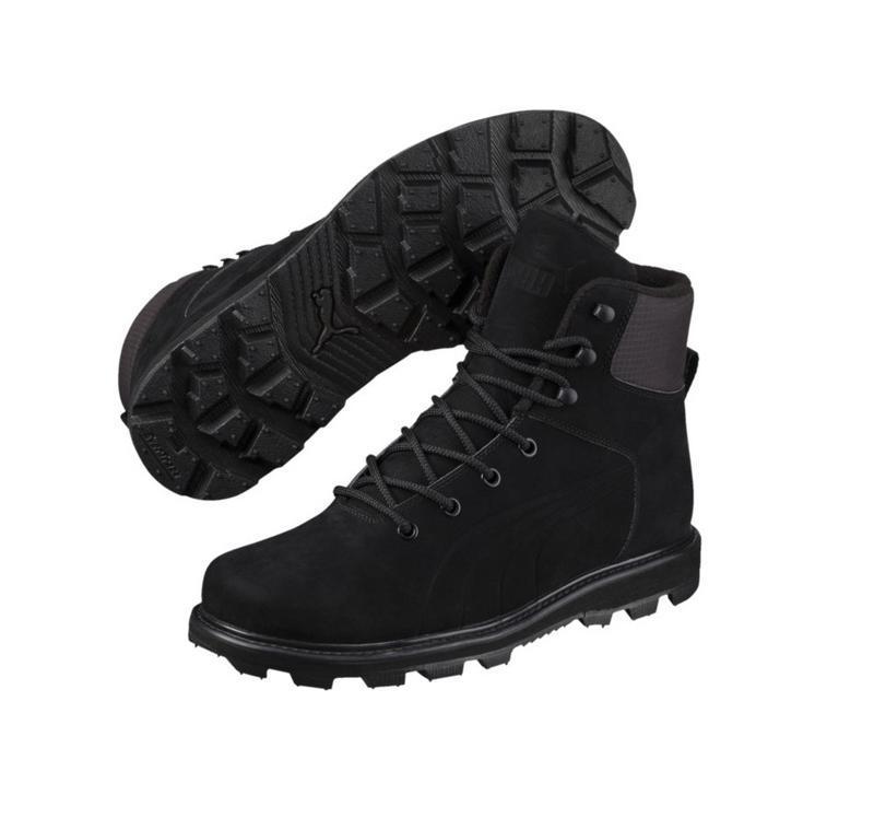 Зимние ботинки puma, премиум класса, натуральная кожа, нубук, ...