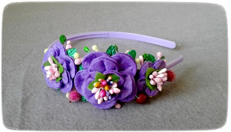 Ободок с цветочками